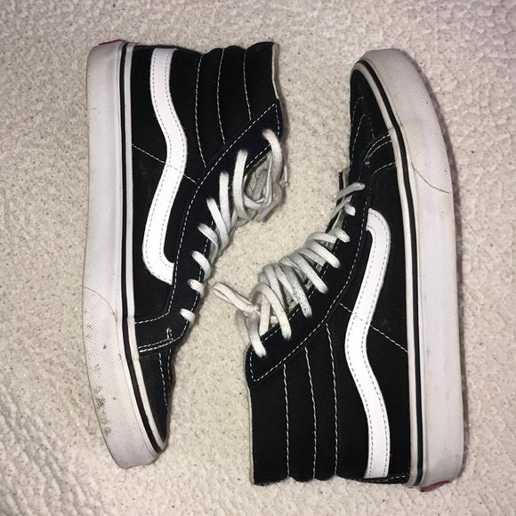 Vans Shoes | Sk8hi Black High Tops 55